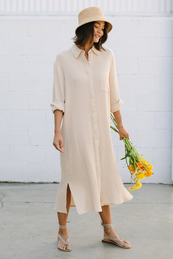 Gauze Amerie Shirt Dress