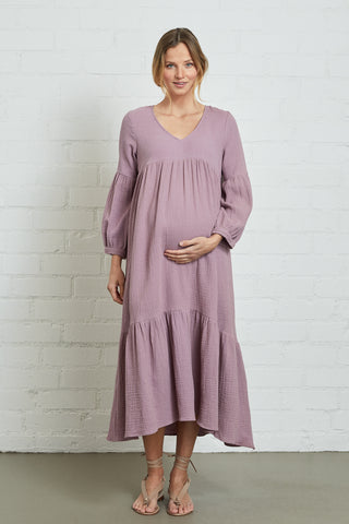 Gauze Cecelia Dress - Iris, Maternity