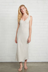 Linen Bias Dress - Gingham