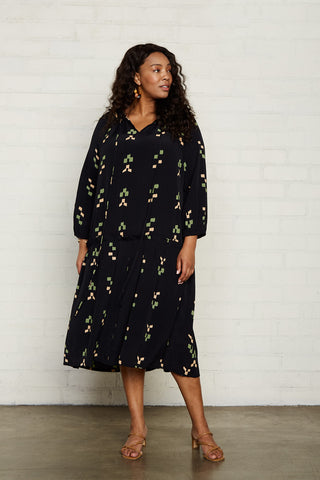 Rayon Gail Dress - Ikat, Plus Size