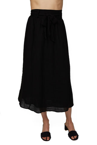 Gauze Anne Skirt - Black
