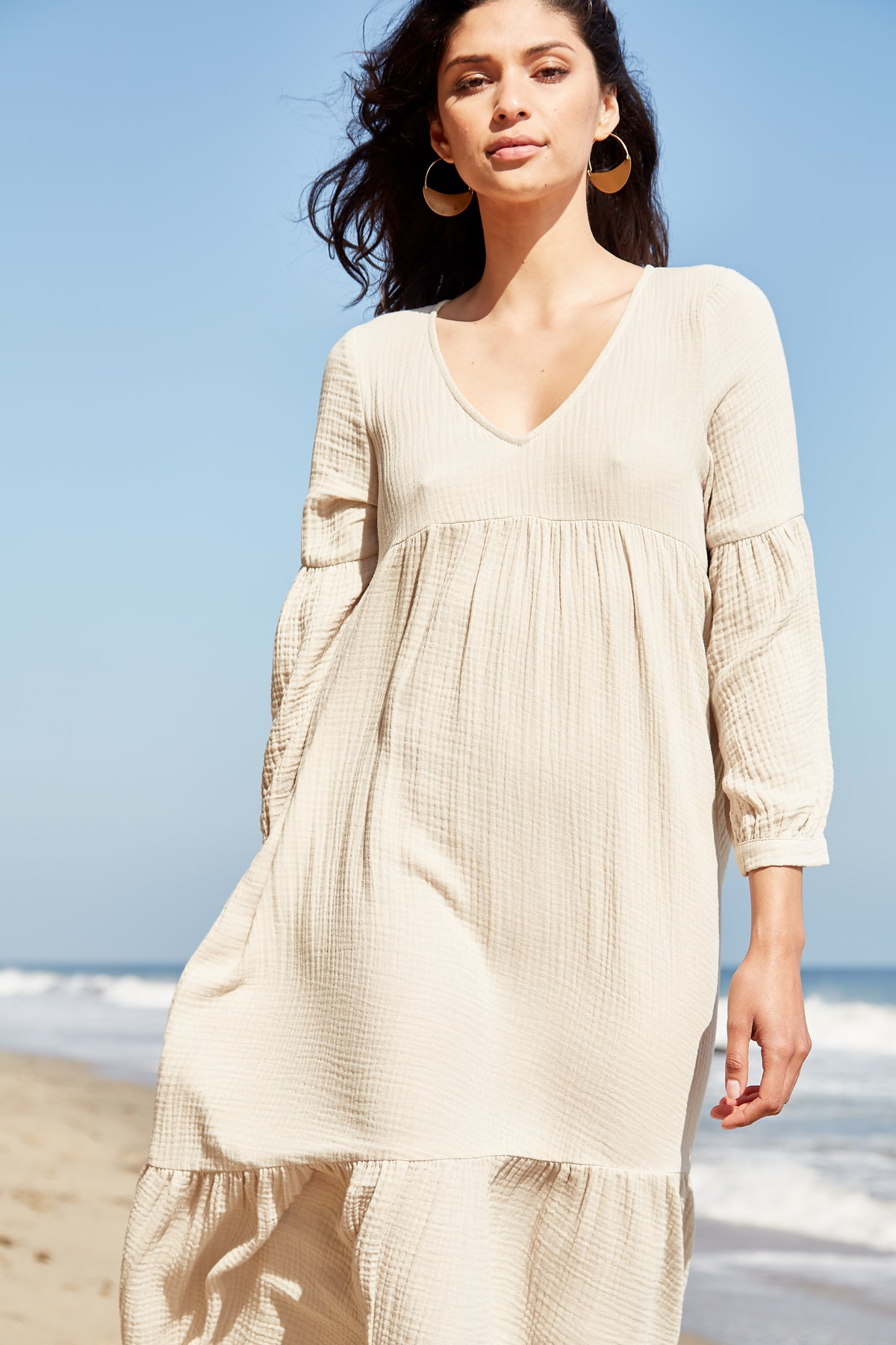 Gauze Cecelia Dress - Almond