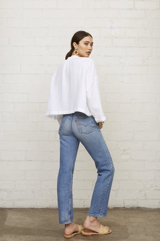 Gauze Charlie Top - White