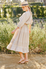 Gauze Heather Skirt - Almond