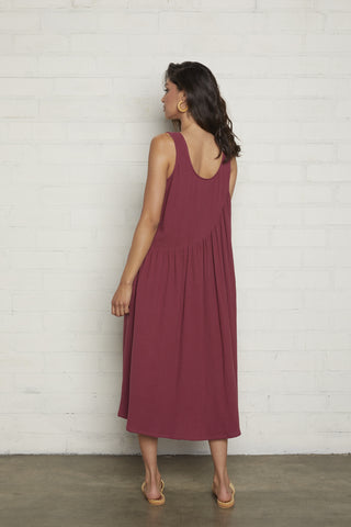Gauze Janie Dress - Raspberry (Back-Ordered)
