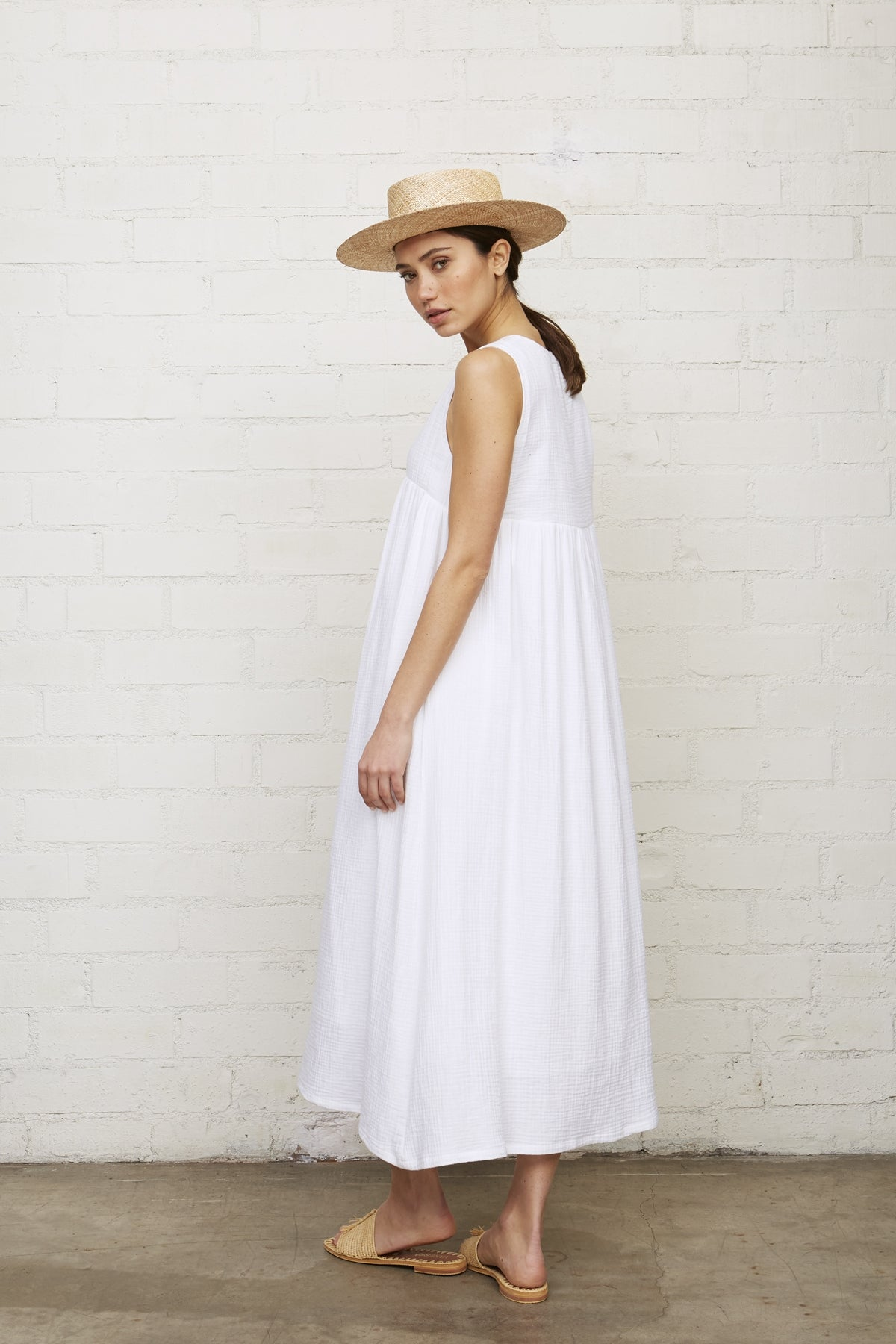 Gauze Joey Dress - White