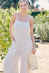 Gingham Darcy Jumpsuit (Back-Ordered)