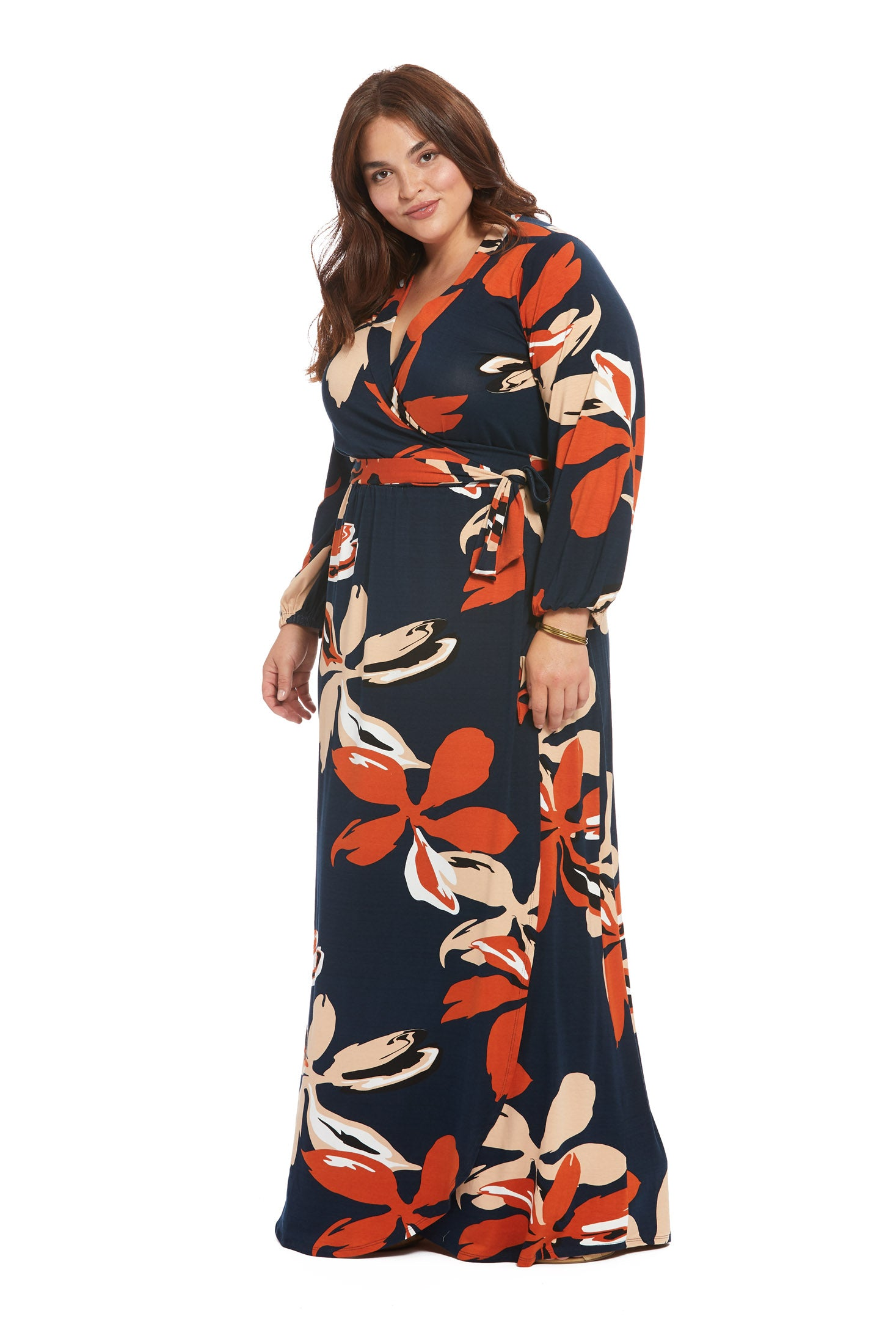 Greenwich Wrap Dress - Pop Floral, Plus Size
