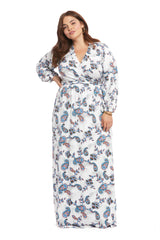 Greenwich Wrap Dress - Paisley, Plus Size