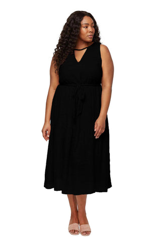 Guaze Lanna Dress - Black, Plus Size