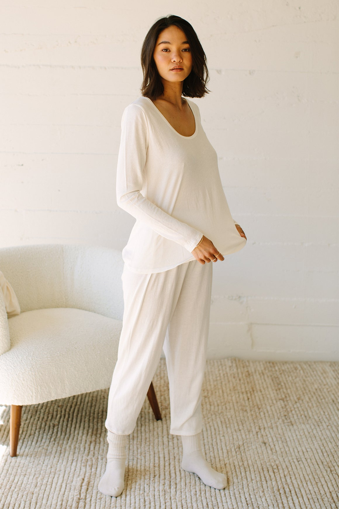 Hemp Long Sleeve Sleep Top
