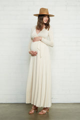 Harlow Dress - Cream, Maternity