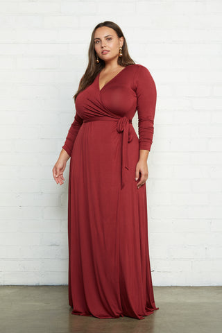Harlow Wrap Dress - Gamay, Plus Size