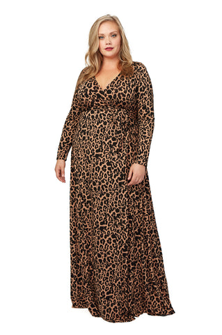 Harlow Dress - Plus - Ocelot