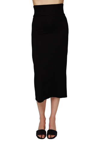 High Waisted Convertible Skirt/Dress - Black