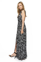Ilaria Dress Print - Black Jardin