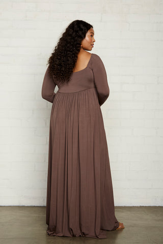 Isa Dress - Cocoa, Plus Size