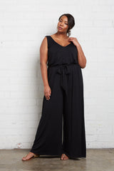 Jasmine Jumpsuit - Black, Plus Size