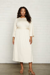 Jennie Dress - Cream, Plus Size