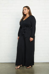 Jesse Jumpsuit - Black, Plus Size