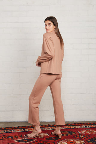 Luxe Rib Dionne Pant - Latte