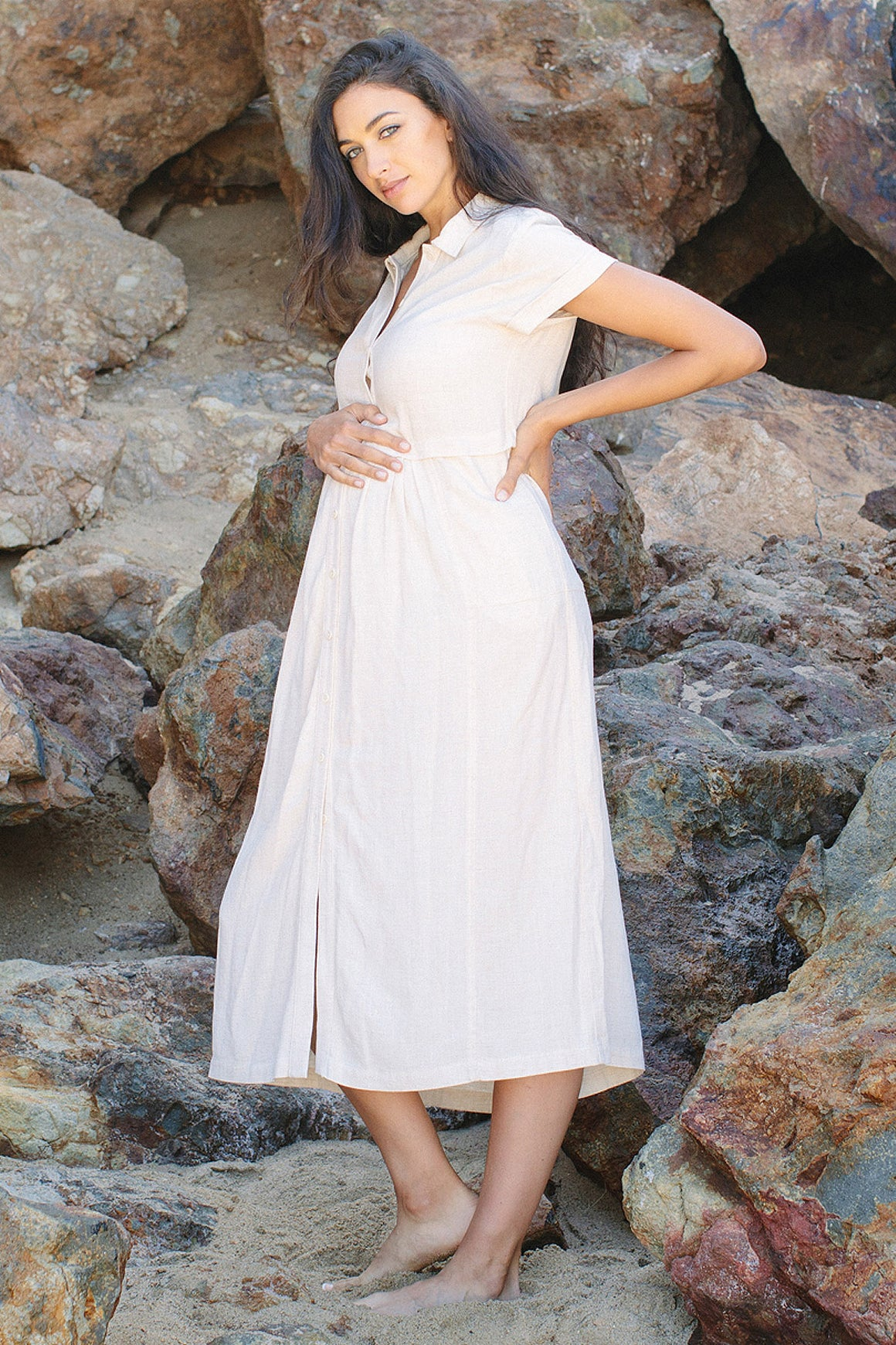 Linen Andi Dress - Maternity