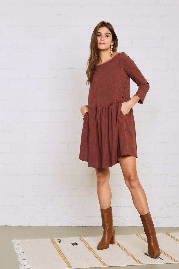 Linen Ruthie Dress - Plus Size