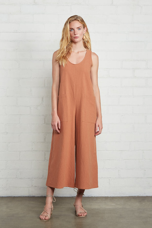 Linen Canvas Remy Jumpsuit
