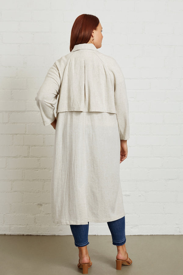 Linen Cary Trench - Plus Size
