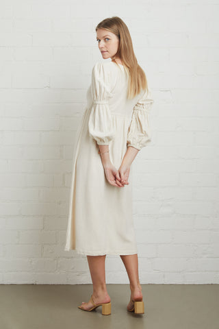 Linen Doreen Dress - Natural, Maternity
