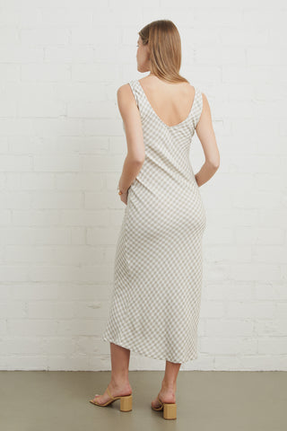 Linen Bias Dress - Gingham, Maternity