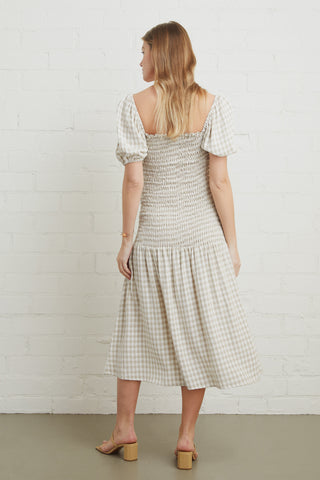 Linen Briar Dress - Gingham, Maternity