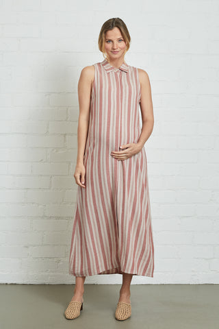 Linen Sofi Dress - Spice, Maternity