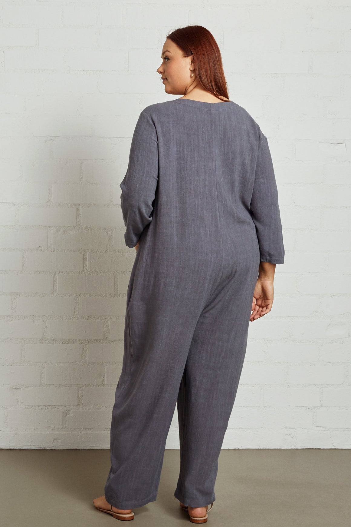 Linen Troy Jumpsuit - Plus Size