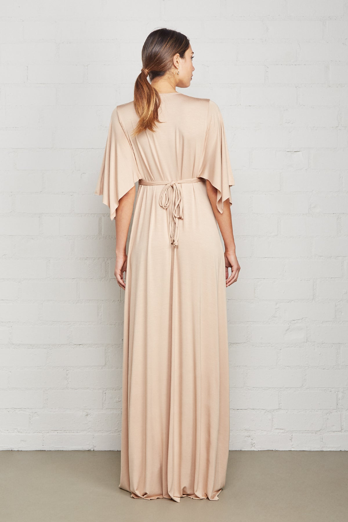 Long Caftan Dress - Bamboo