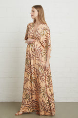 Long Caftan Dress - Palm, Maternity