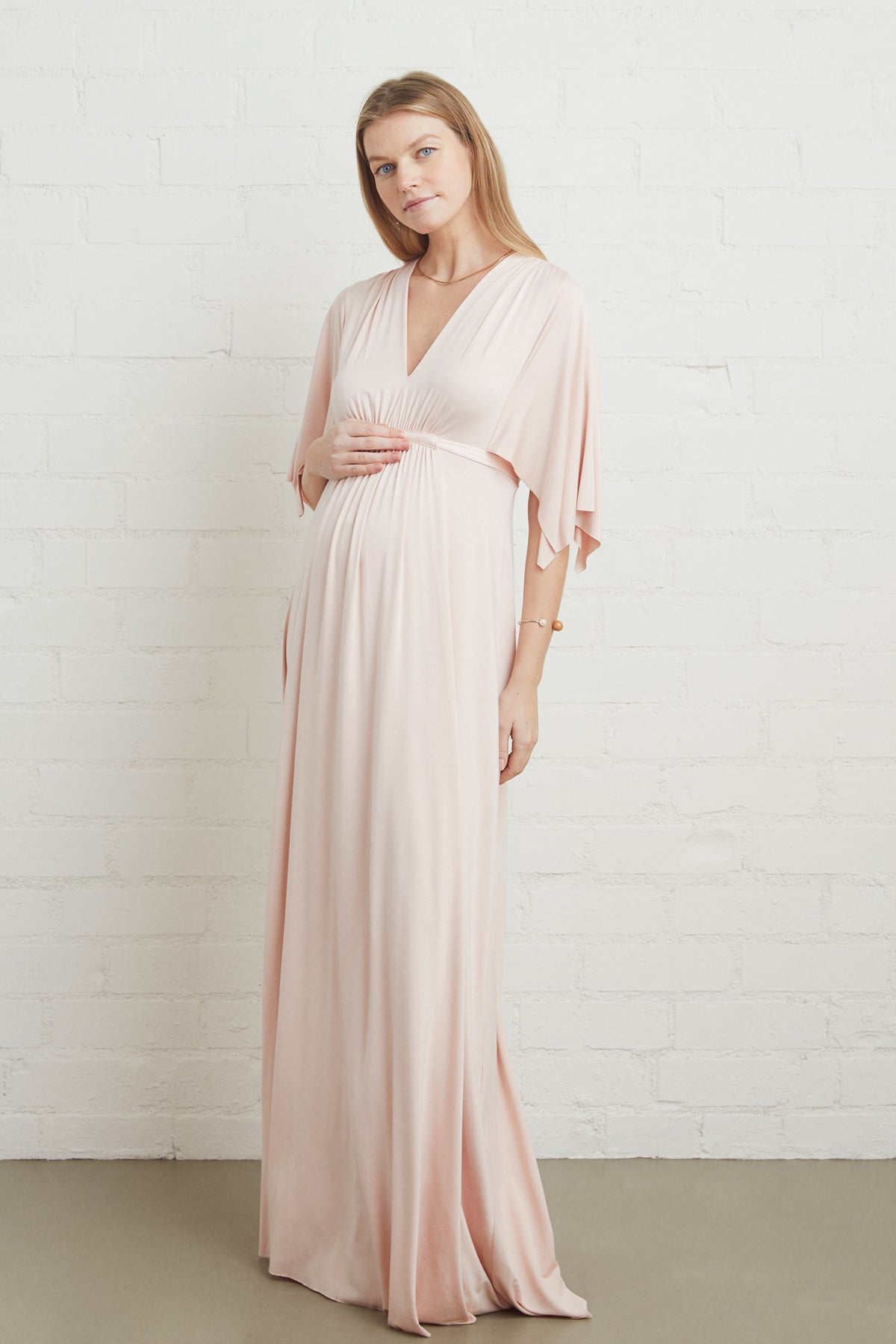 Long Caftan Dress - Shell, Maternity