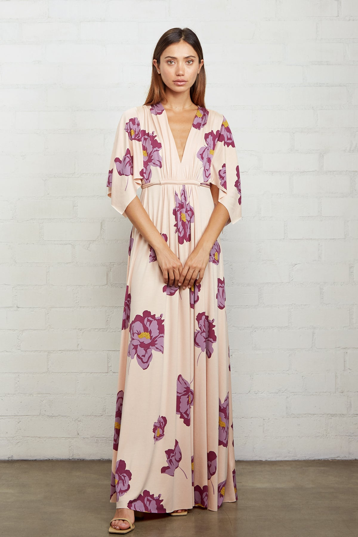 Long Caftan Dress - Peony