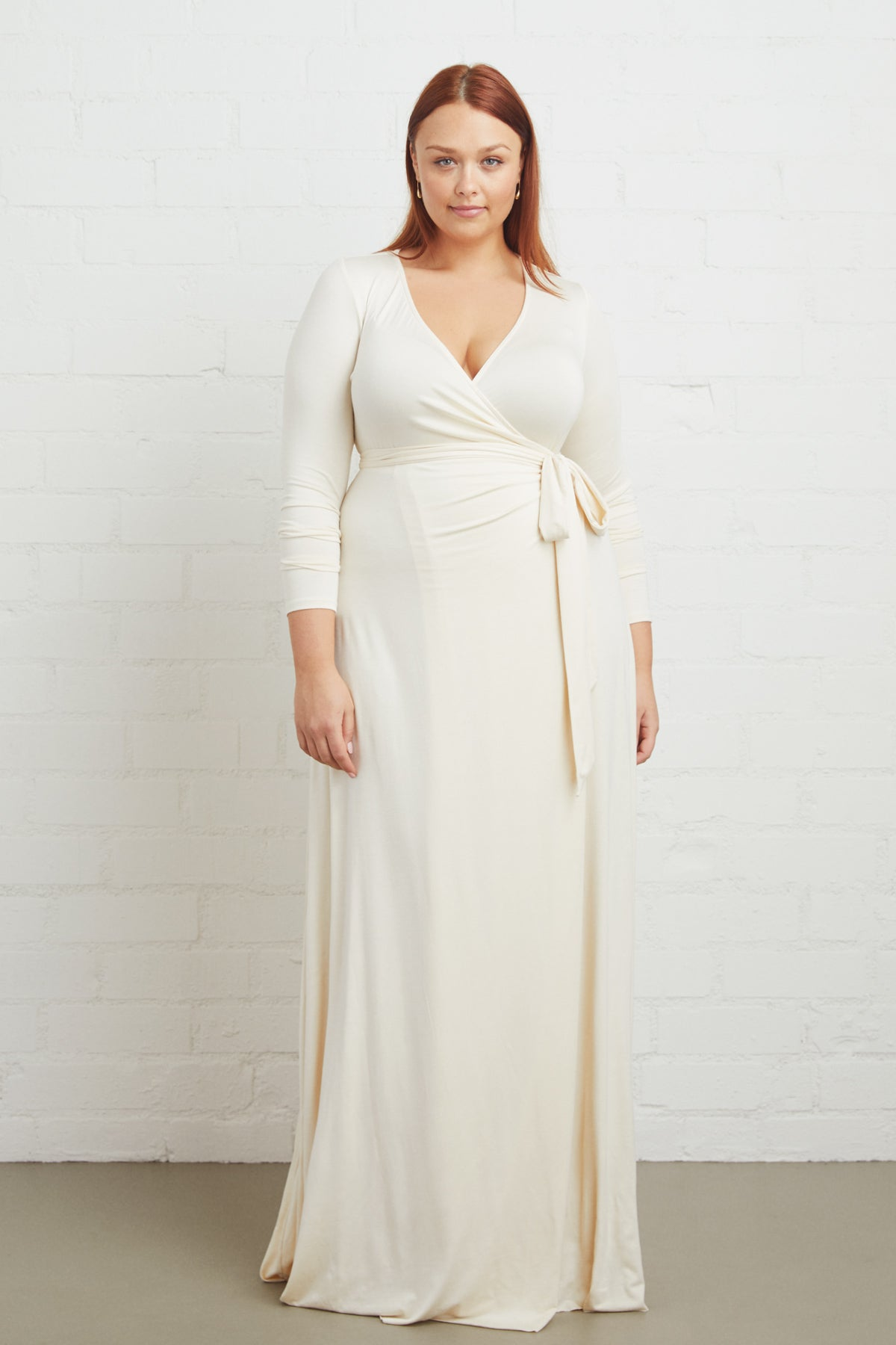 Harlow Wrap Dress - Cream, Plus Size – Rachel Pally