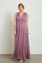Long Sleeveless Caftan Dress - Orchid, Maternity