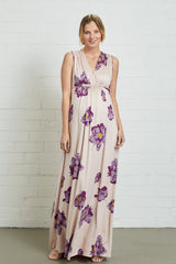 Long Sleeveless Caftan Dress - Peony, Maternity