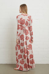 Long Sleeve Full Length Caftan Dress - Ruby Matilija, Maternity