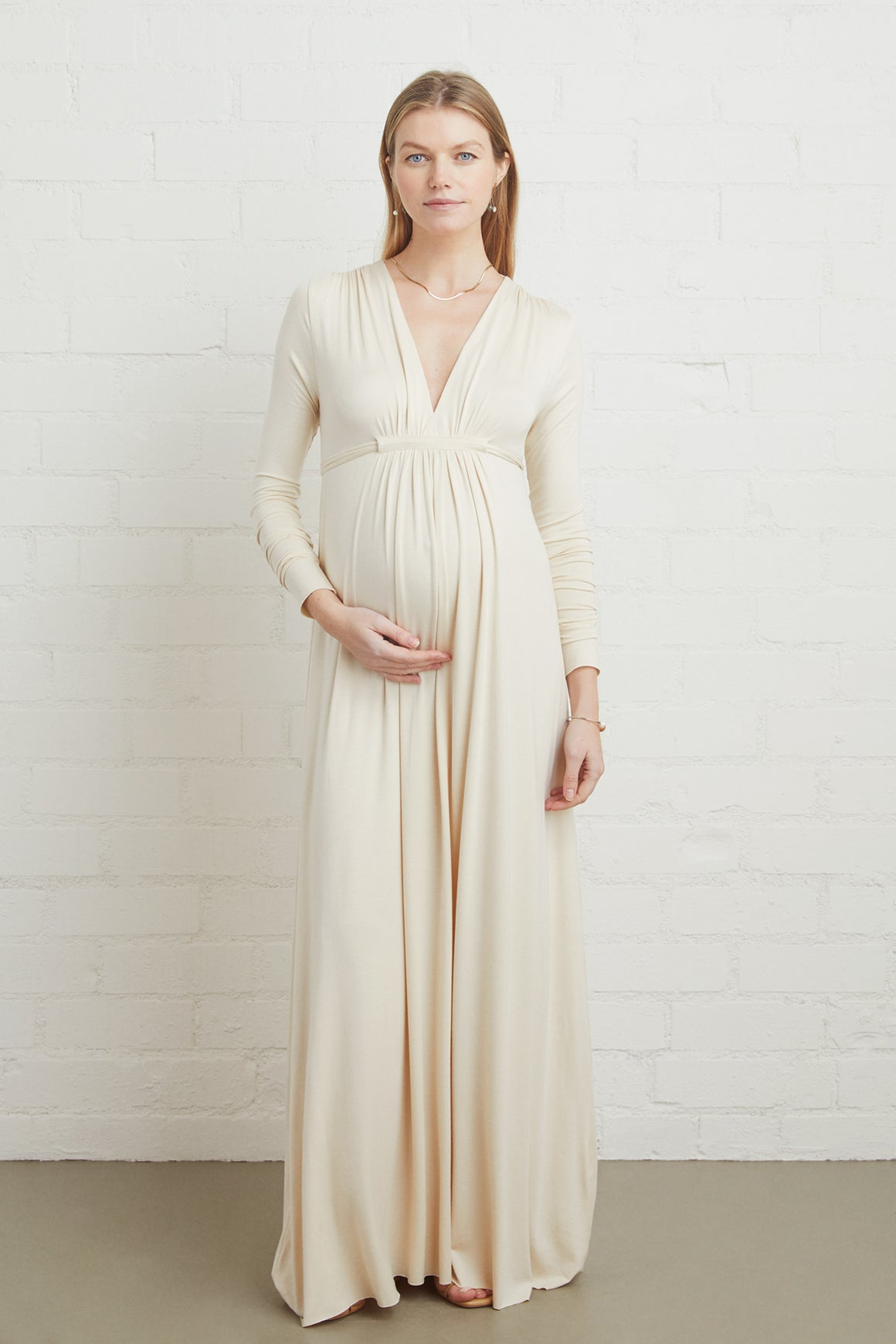 Long Sleeve Full Length Caftan - Maternity