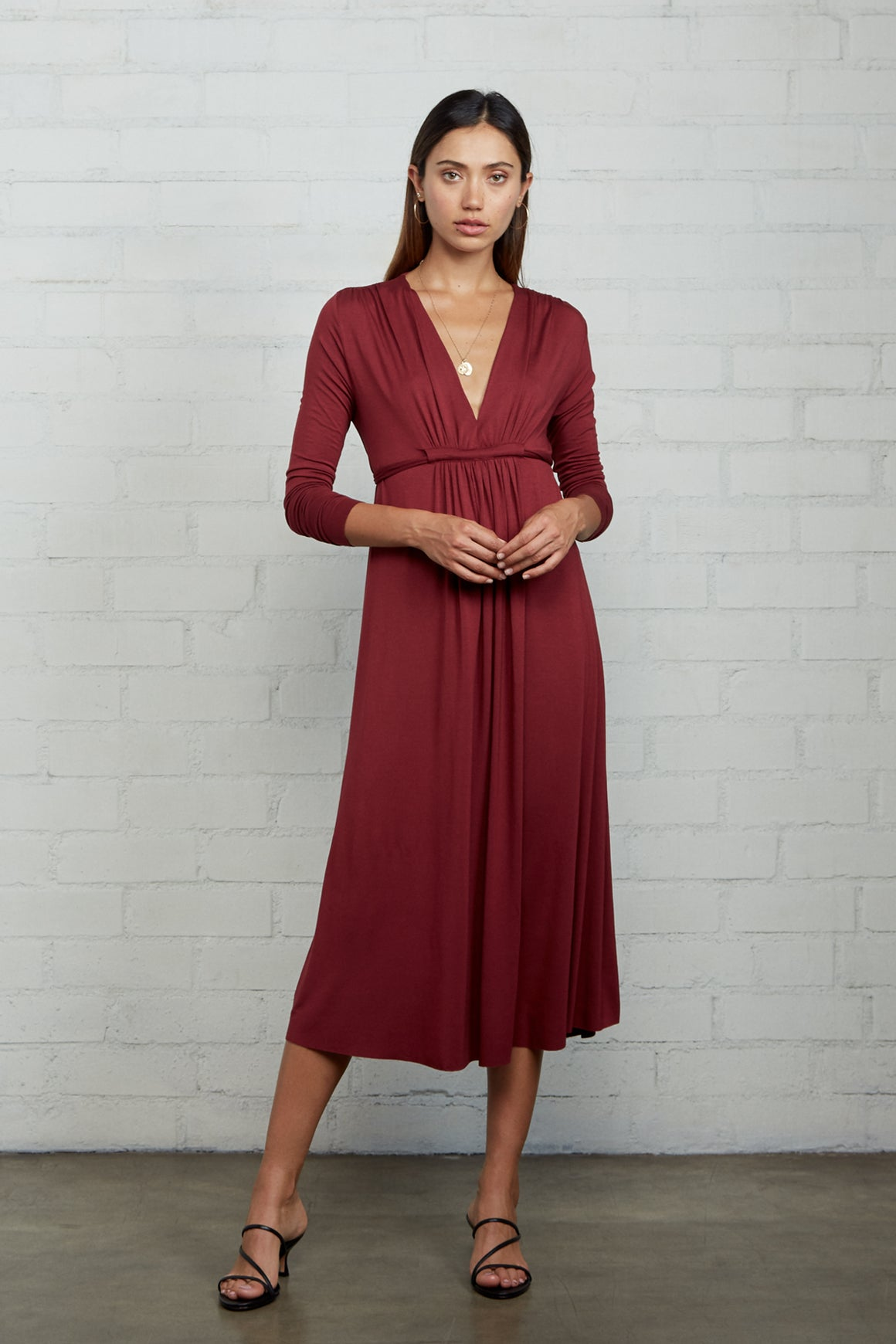 Long Sleeve Mid-Length Caftan Dress