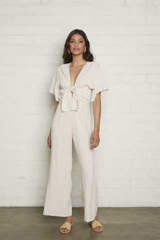 Linen Leon Jumpsuit - Natural