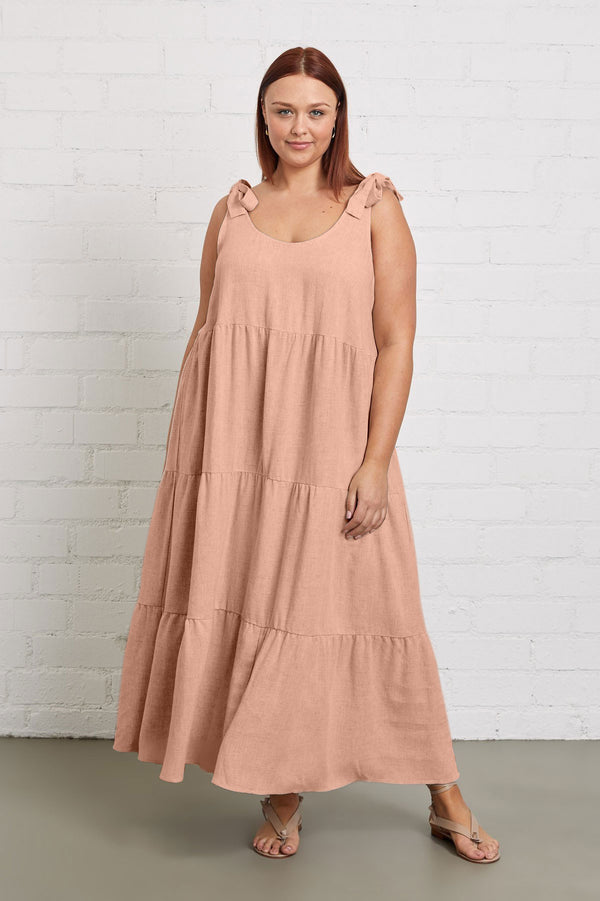 Linen Adelaide Dress - Plus Size