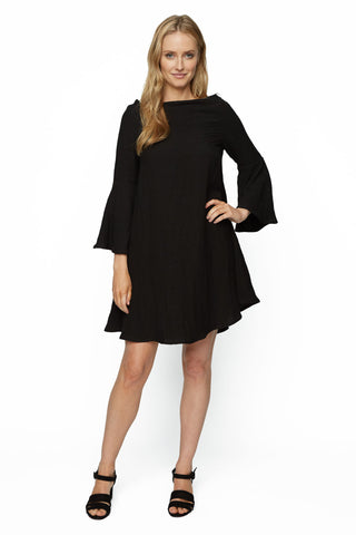 Linen Aemon Dress - Black