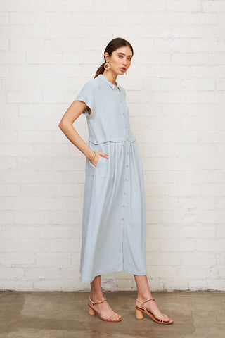 Linen Andi Dress - Bluebell