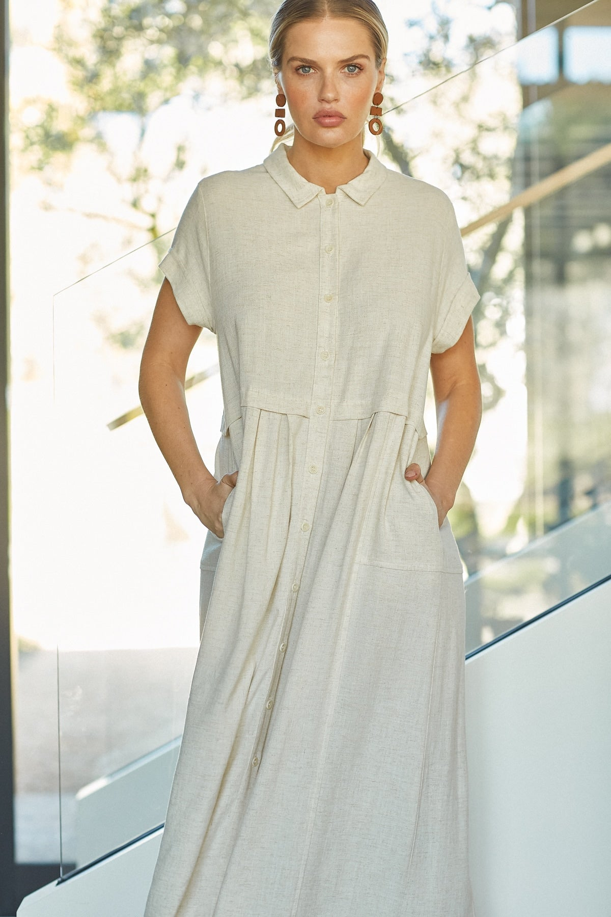 Linen Andi Dress - Natural