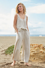 Linen Lyric Pant - Gingham